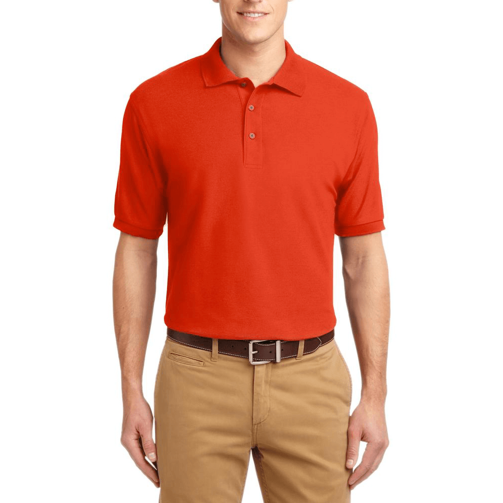 Short Sleeve Polo Shirt Orange