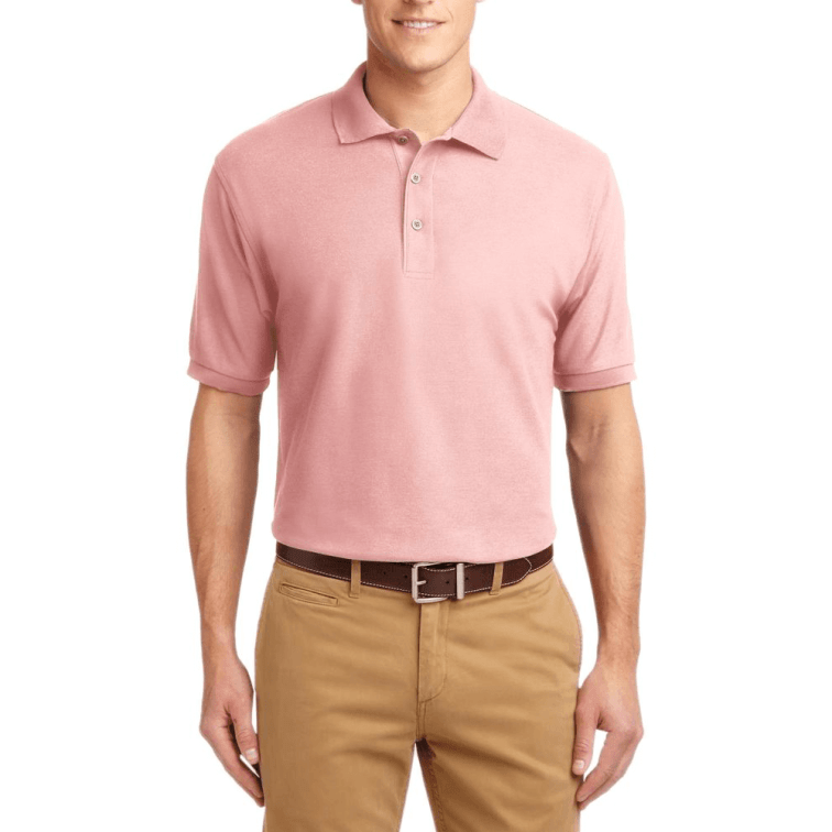 Short Sleeve Polo Shirt Pink