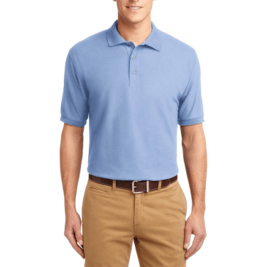 Short Sleeve Polo Shirt Sky Blue
