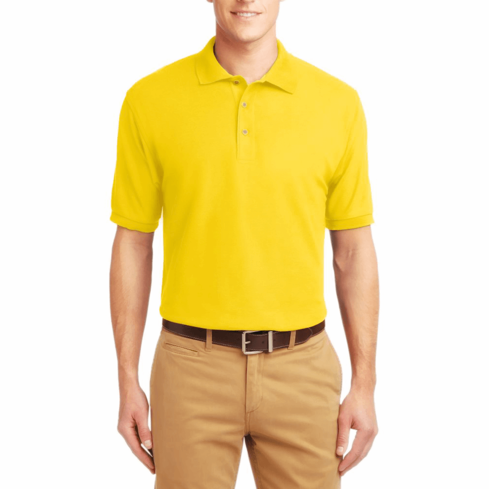 Short Sleeve Polo Shirt Yellow