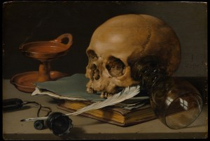 Skull and quill