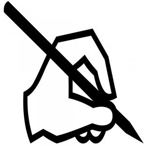 writing silouhette