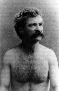 Shirtless Mark Twain