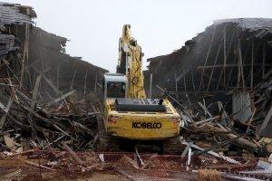 demolition a building