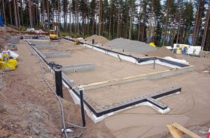 Foundation of building under construction