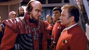 William Shatner and David Warner in Star Trek VI