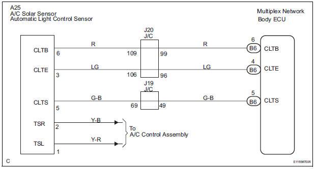 toyota sienna service manual automatic light control sensor