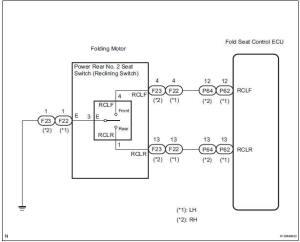 Toyota Sienna Service Manual: Rear Power Seat Switch
