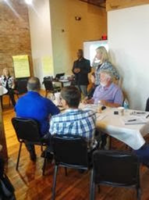 Master Trainer, Rk Springfield (TSI Experience), working with students during a breakout session.