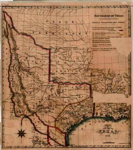 New Map of Texas  1841   TSLAC New Map of Texas  1841