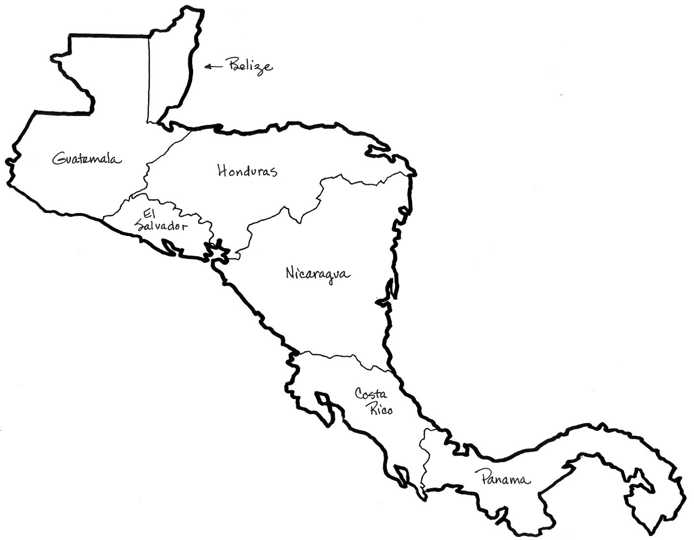 Central America Map Clipart