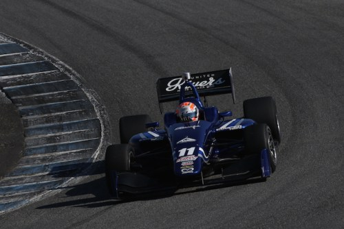 Ed Jones will return to a brilliant blue Mazda powered Carlin car for his second season in the Indy Lights presented by Cooper Tire series. (Photo courtesy of Indianapolis Motor Speedway, LLC Photography)