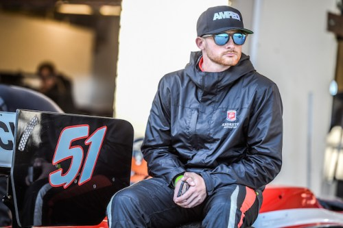 Shelby Blackstock waits patiently to head out on track at the recent Chris Griffis Memorial Test at Circuit of the Americas (Photo courtesy of Indianapolis Motor Speedway, LLC Photography)