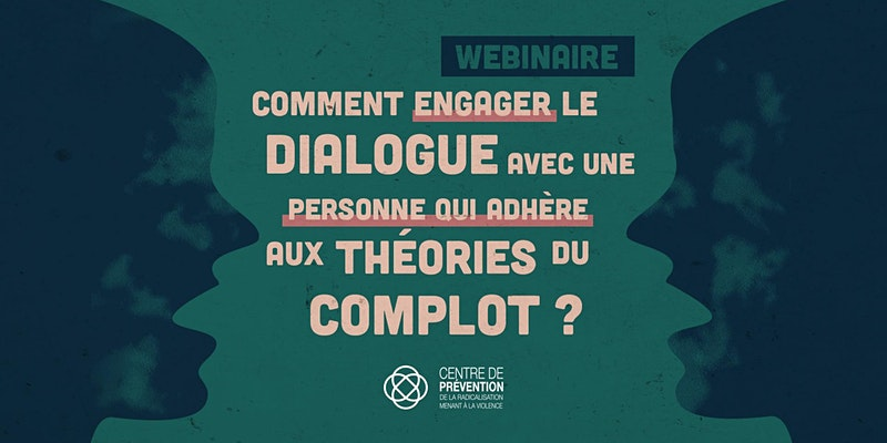 Engage with conspiracy theorist event graphic