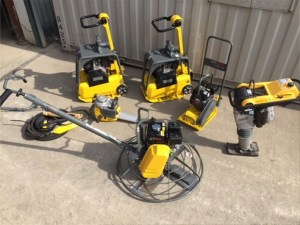 Light equipment in the TS Plant Sales yard