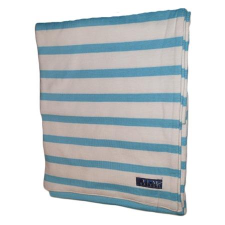 BRETONSE SJAAL JULIE WIT-TURQUOISE - BATELA WIT TURQUOISE KATOENEN SJAAL Bretonse sjaal wit-turquoise