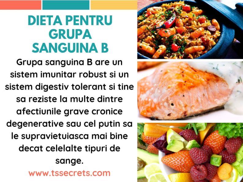 dieta grupa sanguina B