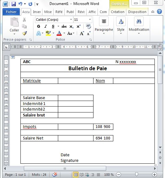 Beliebt 5- Gérer la paie avec Excel: Utilisez le publipostage pour  DV67