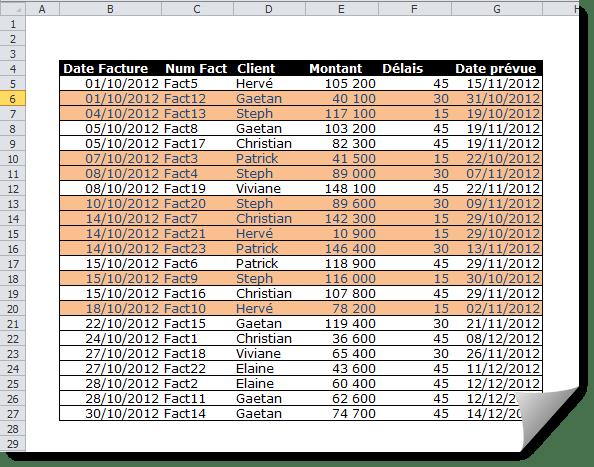 retrouver les dates d u2019 u00e9ch u00e9ances d u00e9pass u00e9es avec la mise en forme conditionnelle