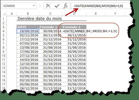 Plusieurs techniques pour retrouver automatiquement le dernier jour de n'importe quel mois d'une année donnée