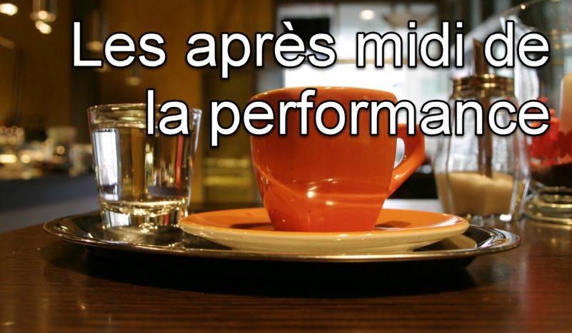 Que pensez-vous du concept «des après midi de la performance»?