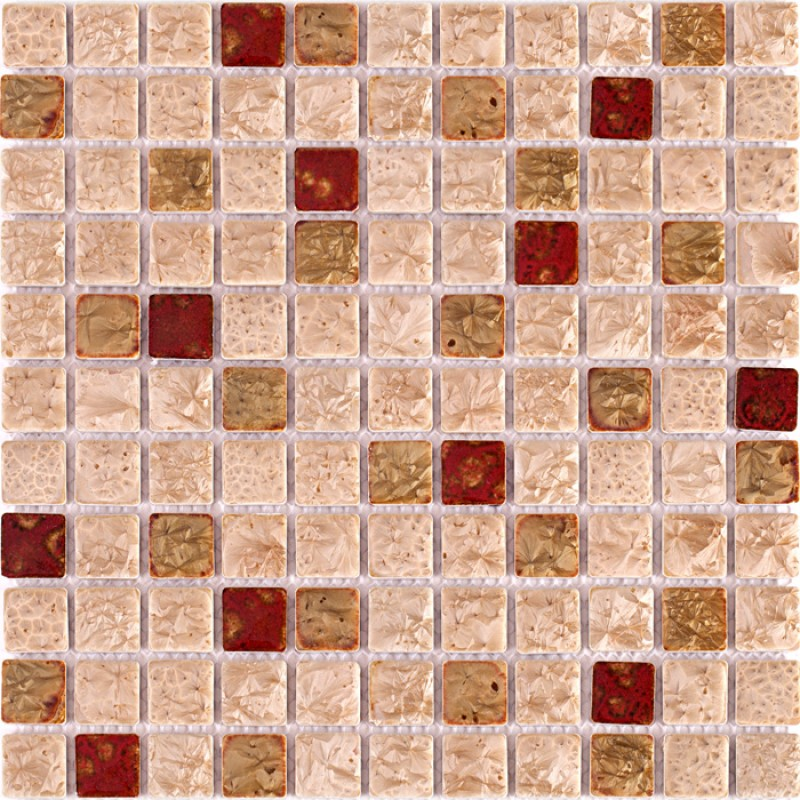 tst ceramic mosaic tiles rose pink red mosaics fambe flower art design backsplash