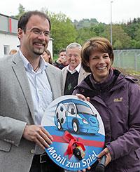 Jugendleiter Michael Brunner und Katrin Tönshoff