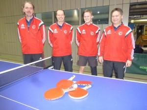 Von links: Wolfgang Butscher, Milo Garhammer, Michi Brunnbauer, Franz Niedermaier