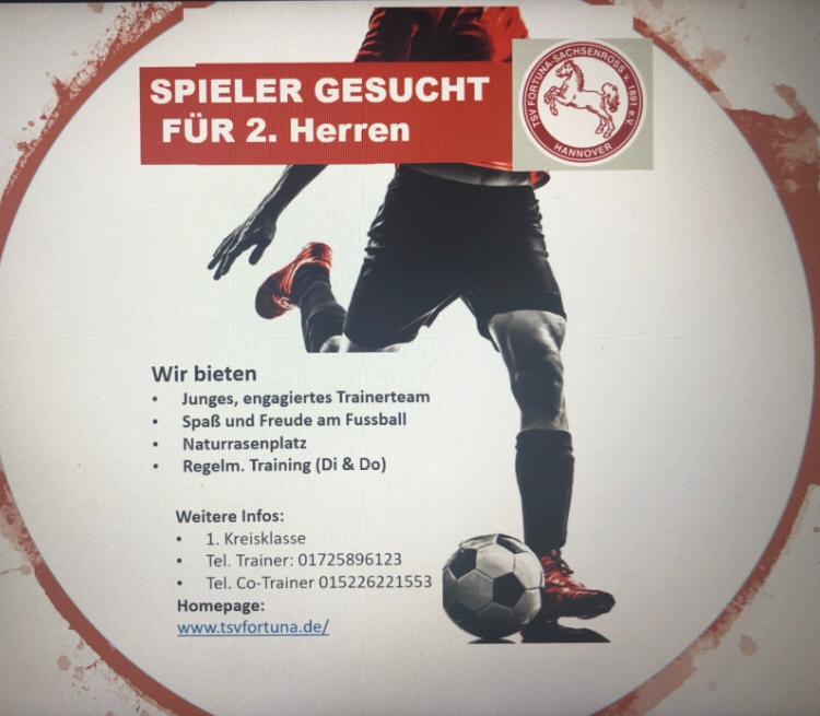 You are currently viewing Spieler gesucht für 2. Herren