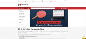 TT-Shop Startseite
