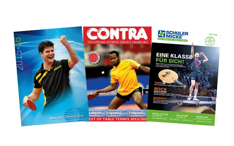 Tischtennis Katalog