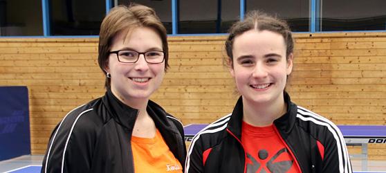 Xenia Maier und Nina Lutz vom TTC Muggensturm