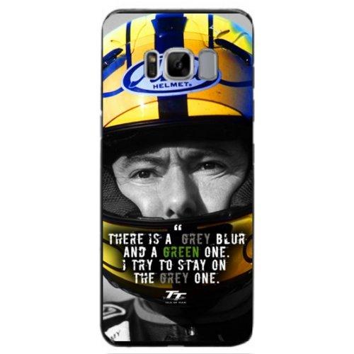Isle of Man TT Joey Dunlop Grey Blur Quote Case