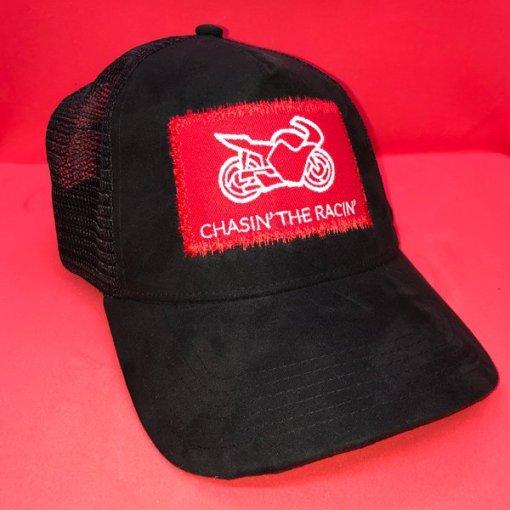 Chasin the Racin Baseball Cap Front Red