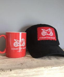 Chasin the Racin Baseball Mug and Cap