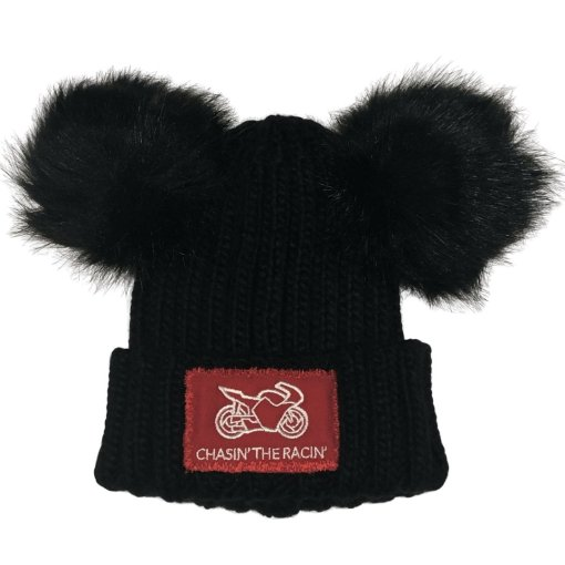 Chasin the Racin Bobble Hat Double Pom