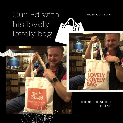 TTCases Ed shows of his lovely lovely Chasin the Racin bag