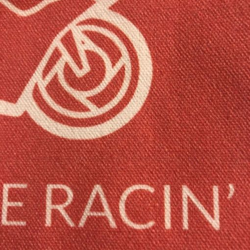 Chasin the Racin Merchandise - Tote Bag Close Up