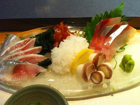 """大井町  """"すし処 さいしょ""""(銀座に移転)で @hiro45jp さんとサシ飲みなう!"""