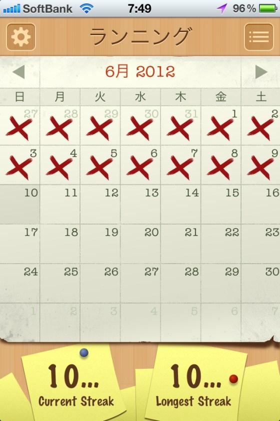 また夕方から崩れる [カラダログ 2012/06/09]