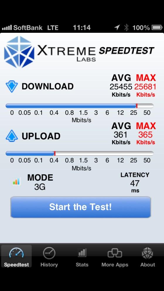 NTT docomo Xi と SoftBank LTE スピード比較テストをしてみた!驚愕の結果!!