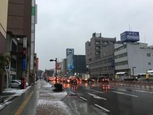 雪の富山で2月走り初め1kmラン! 2月は220km走るぞ!! [2016年 冬 北陸旅行記 その4] [ランログ]