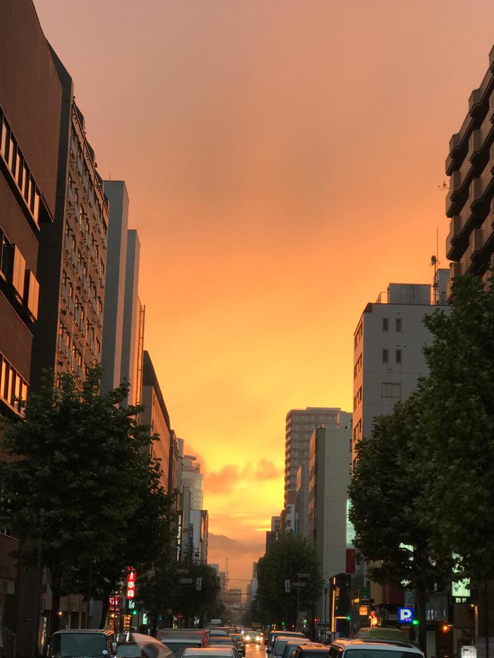 2年ぶりに北海道に来ました!燃えるような夕焼けが見事だった旅1日目!!  [2016年9月 北海道旅行記 その1]