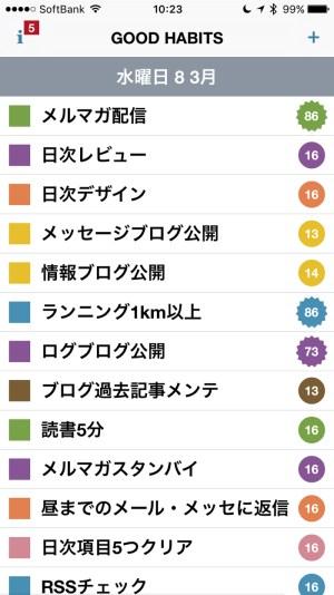 Good Habits 〜 iPhone 習慣化サポートアプリの「読書」項目を変更!習慣復活を目指して [iPhone]