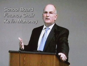 Finance Chair Kevin Mahoney