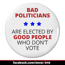 bad politicians elected by non voters