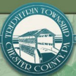 "The seal of Tredyffrin Township. Knox covered bridge encircled by the words ""Tredyffrin Township Chester County""."