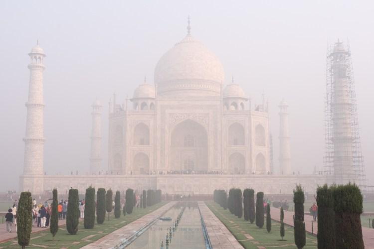 Taj Mahal Straight On at Sunrise - Agra, India - Copyright 2016 Ralph Velasco