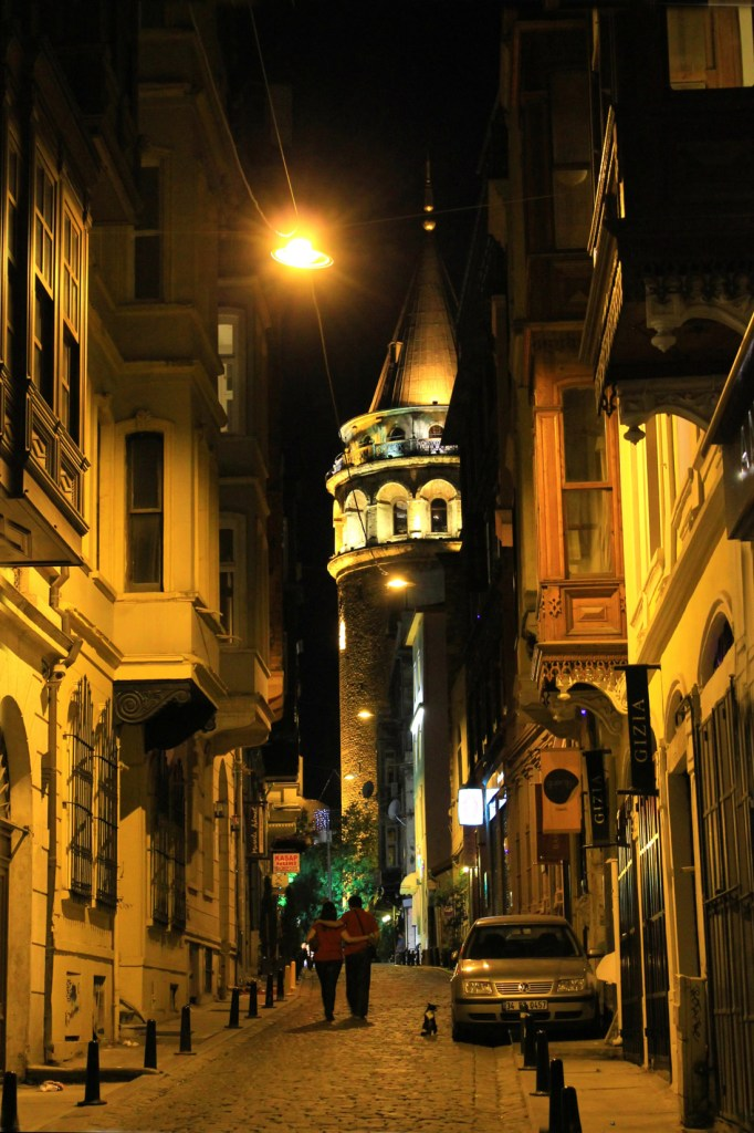 Romantic walk to Galata, Istanbul, Turkey