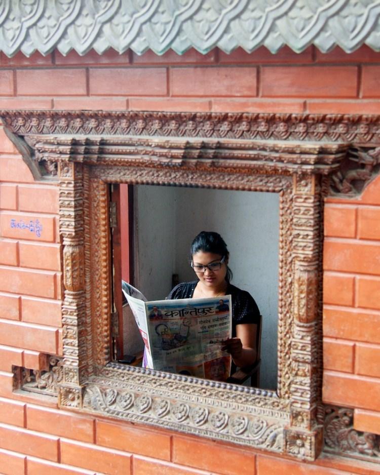 People Reading Newspapers - Kathmandu, Nepal - Copyright 2013 Ralph Velasco